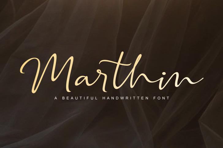 Marthin Font poster