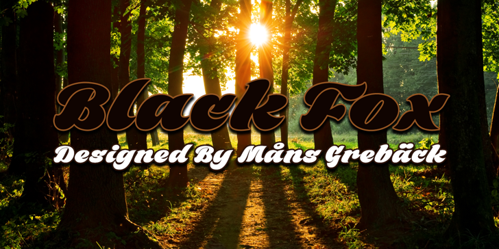 Black Fox Personal Use Only Font tree outdoor