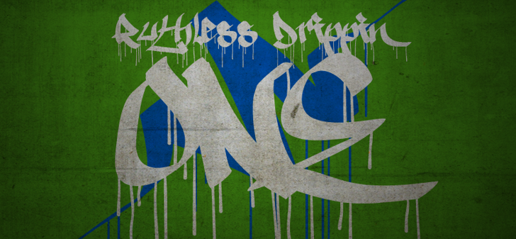 Ruthless Drippin ONE Font drawing painting