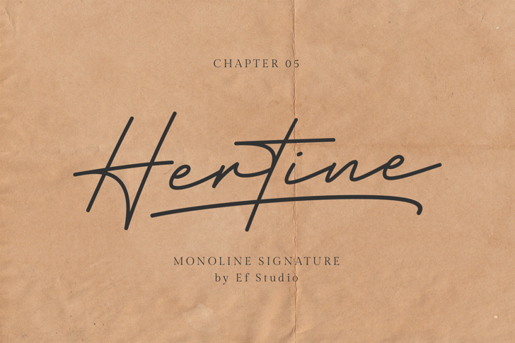 Hertine - Personal Use Font poster