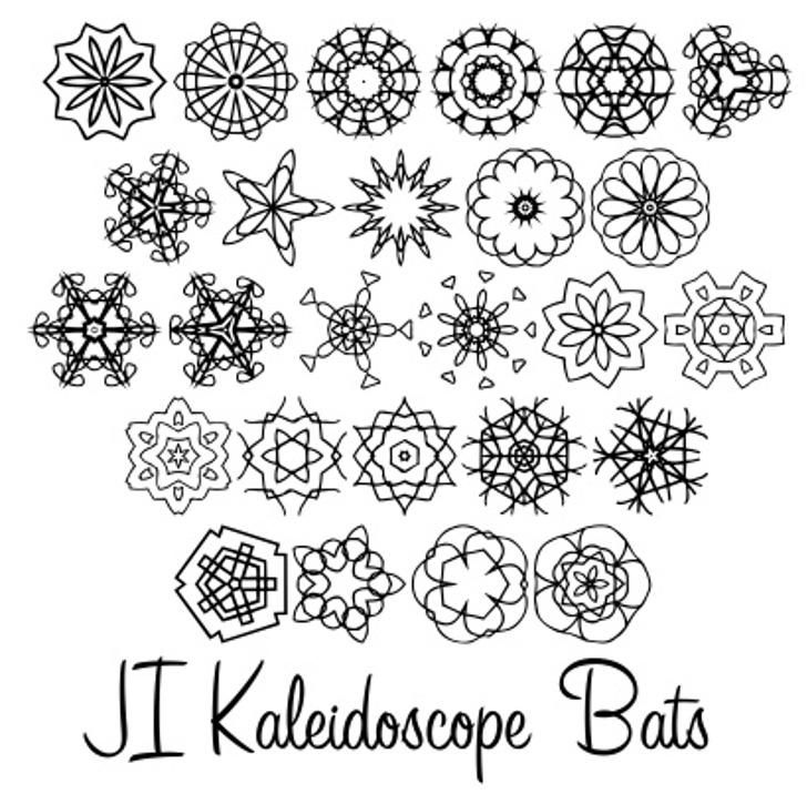 JI Kaleidoscope Bats Font pattern cartoon