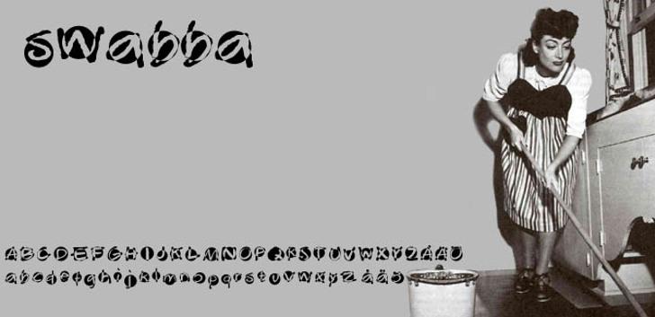 Swabba  Font screenshot cartoon