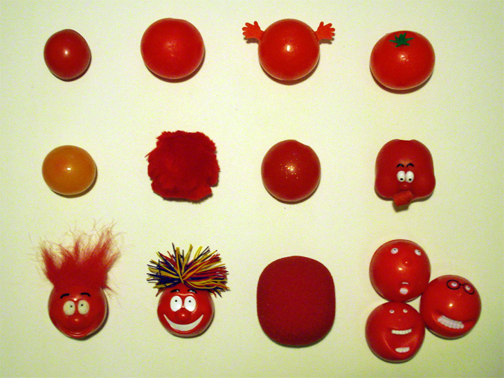 Red Nose Day Font red fruit