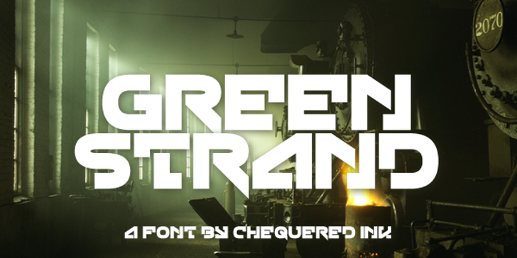Green Strand Font screenshot poster