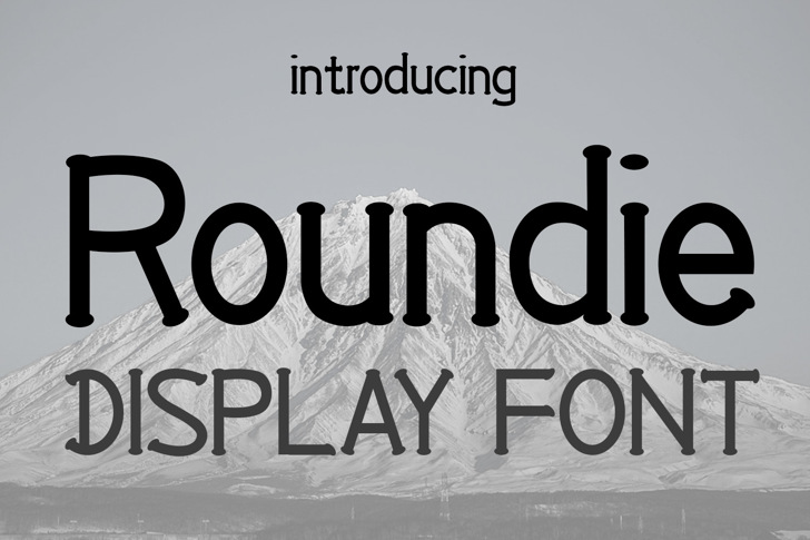 EP Roundie Font poster text