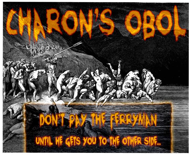 Charons Obol Font text poster