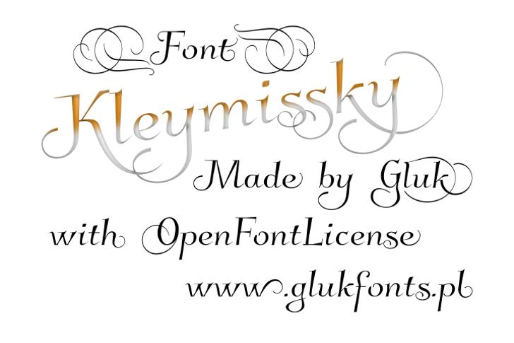 Kleymissky Font handwriting text
