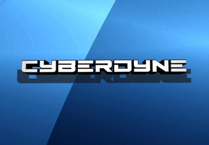 Cyberdyne Font screenshot aqua