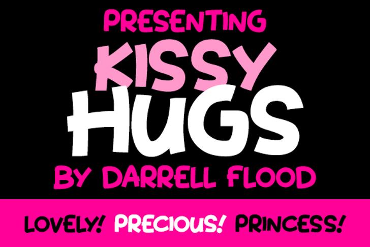 Kissy Hugs Font poster screenshot