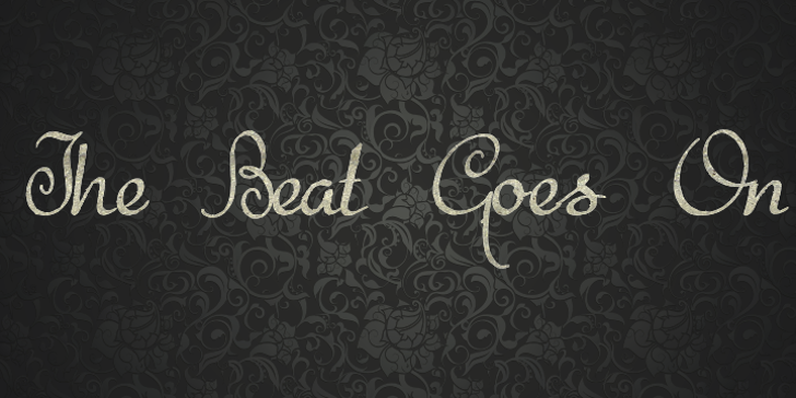 The Beat Goes On Font handwriting design