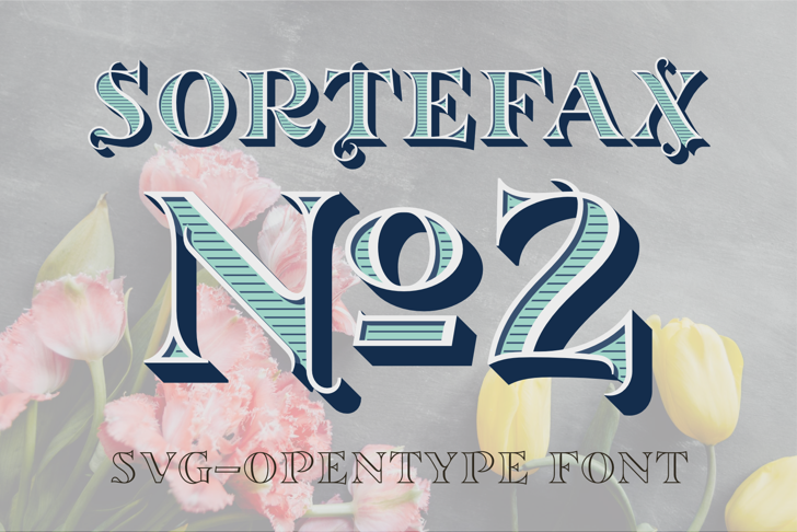 SortefaxNo2Turquoise Font poster