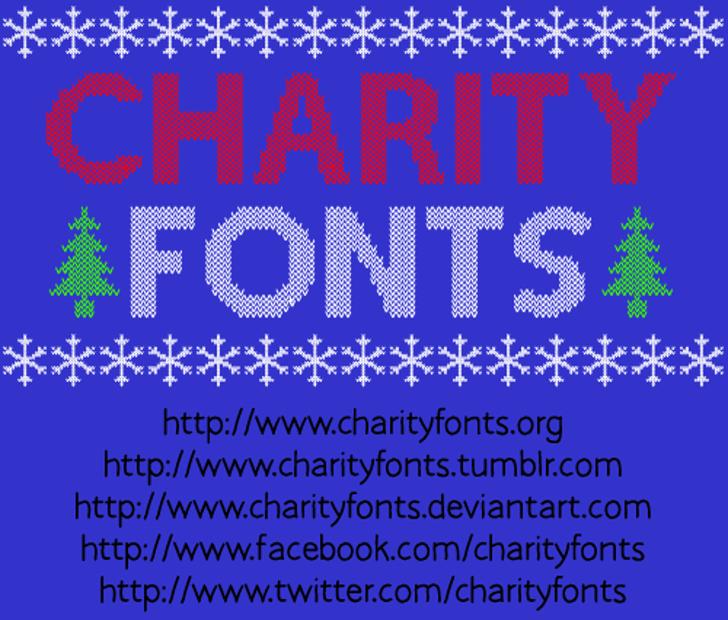 Christmas Jumper Font text