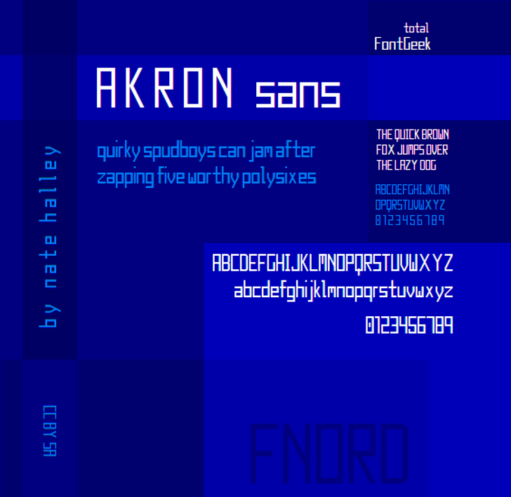 Akron NBP Font screenshot internet