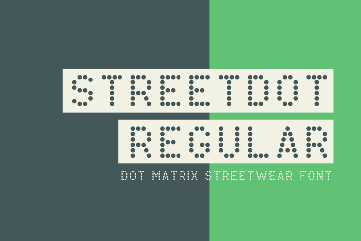 StreetDot Demo Font design illustration
