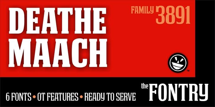 DEATHE MAACH NCV Font screenshot design