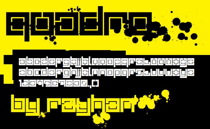 Quadro Font screenshot design