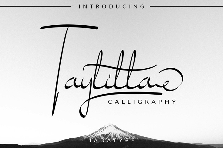Taylilla Font poster
