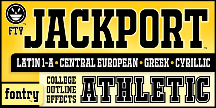 JACKPORT COLLEGE NCV Font text poster