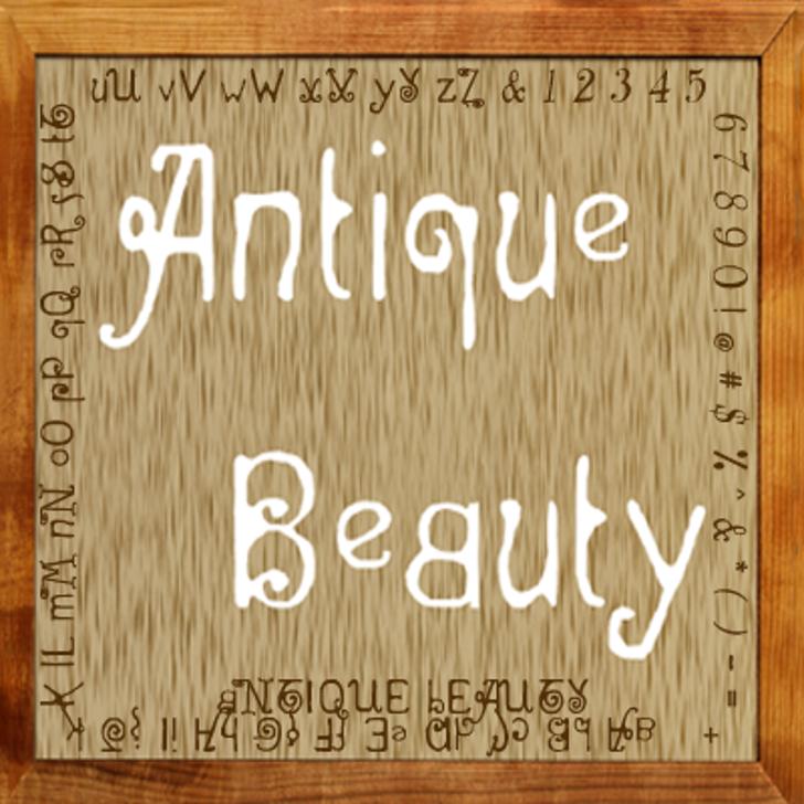 Antique Beauty Font handwriting text