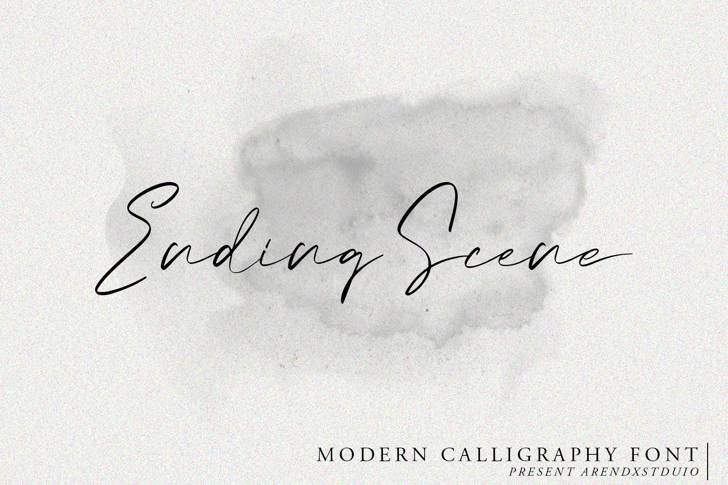 Ending Scene Free Personal Use Font poster