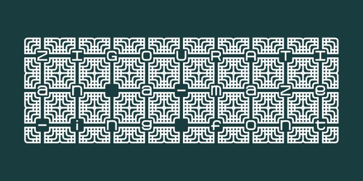 Zigourati Font screenshot circuit