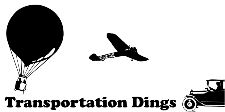 Transportation Dings Font airplane aircraft
