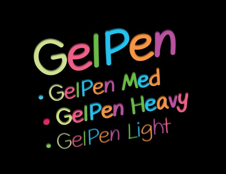 GelPen Font font screenshot