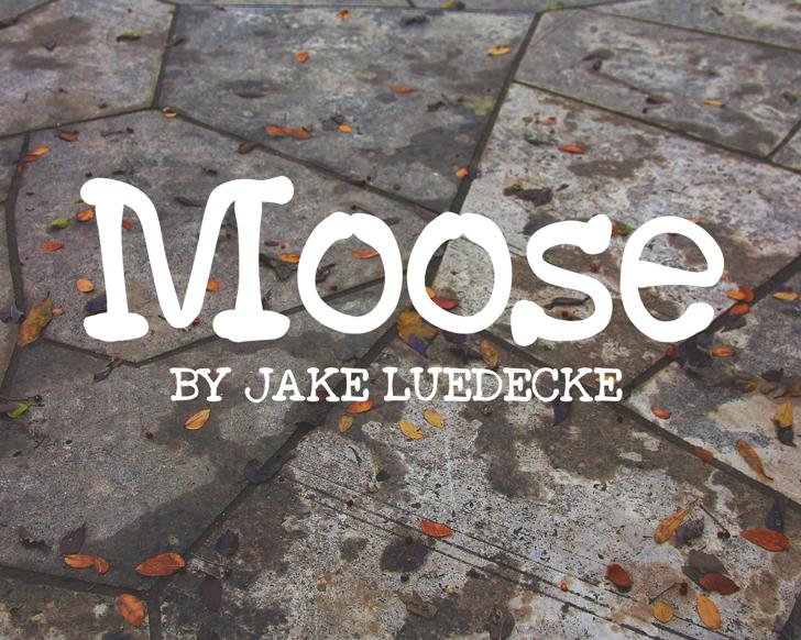 Moose Font ground handwriting