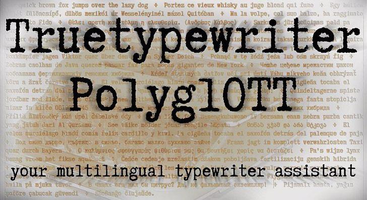 Truetypewriter PolyglOTT Font text poster