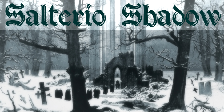 Salterio Shadow Font outdoor snow