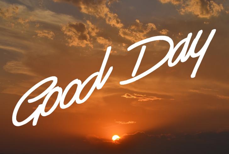 Good Day Font sky cloud