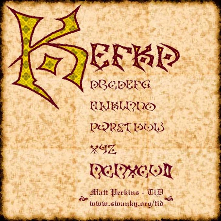 Kefka Font poster cartoon