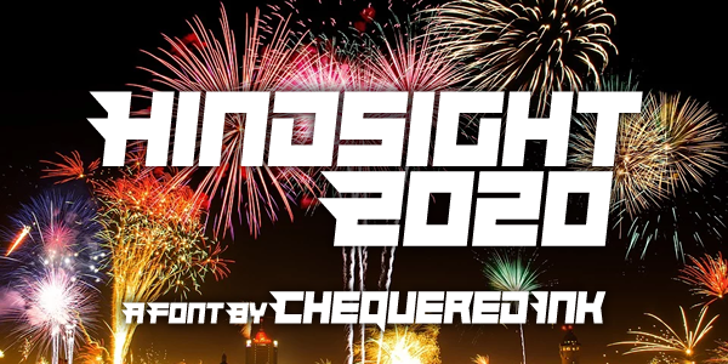 Hindsight 2020 Font poster