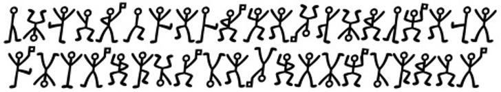 GL-DancingMen Font nintendo