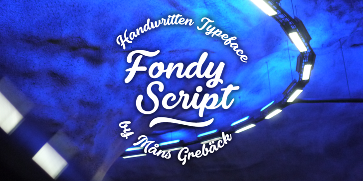 Fondy Script PERSONAL USE ONLY Font text design
