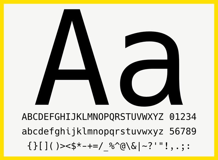 Hack Font design screenshot