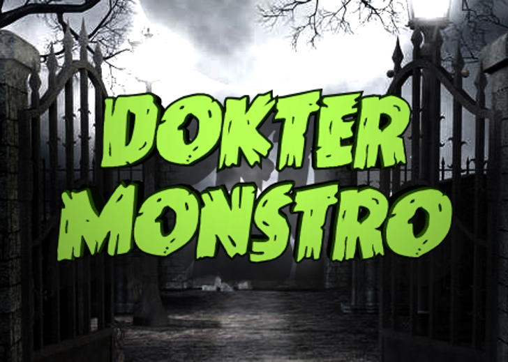 Dokter Monstro Font outdoor sign