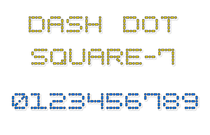 Dash Dot Square-7 Font text abstract