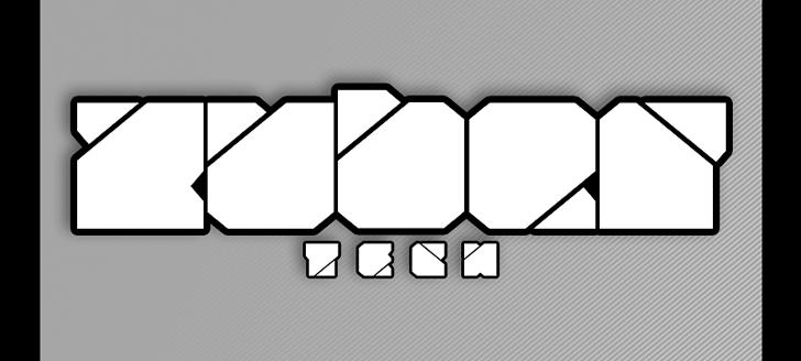 Zuber tech Font design cartoon