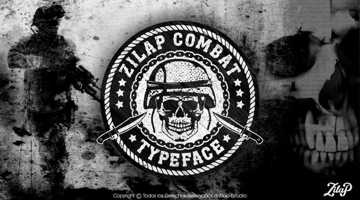 Zilap Combat Font cartoon drawing