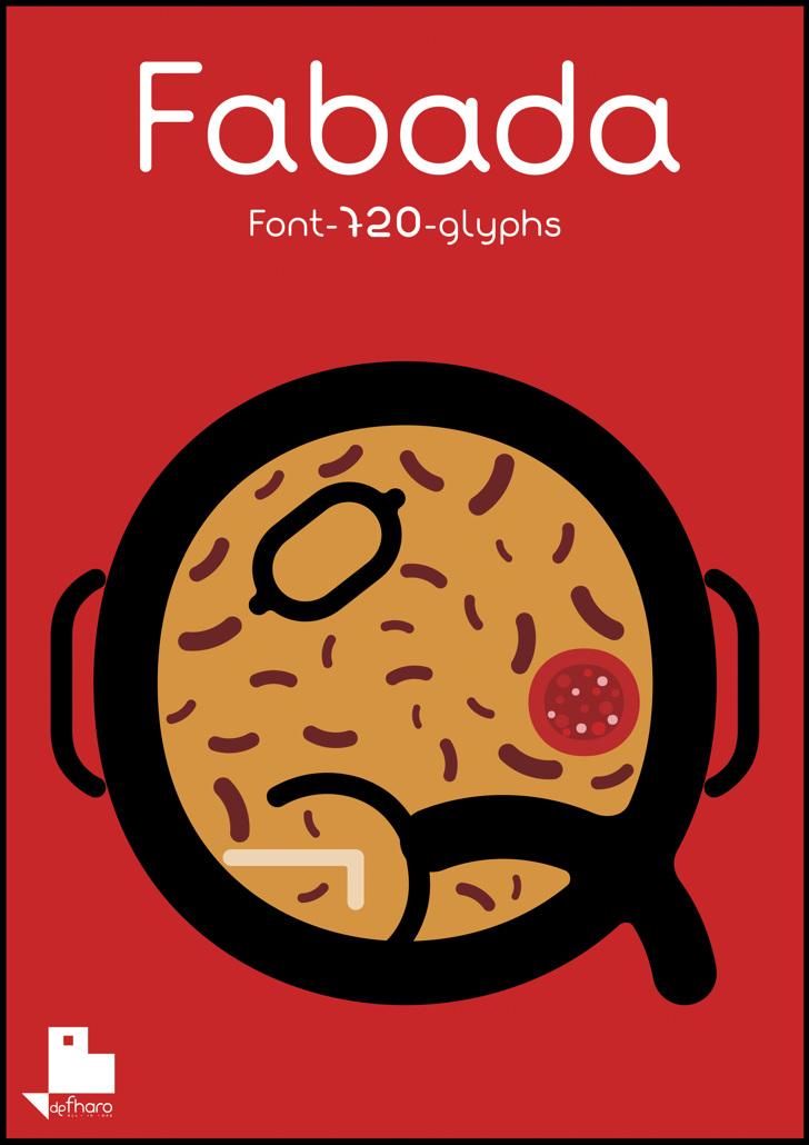 Fabada Font cartoon book