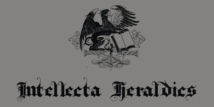 IntellectaHeraldics Font drawing sketch