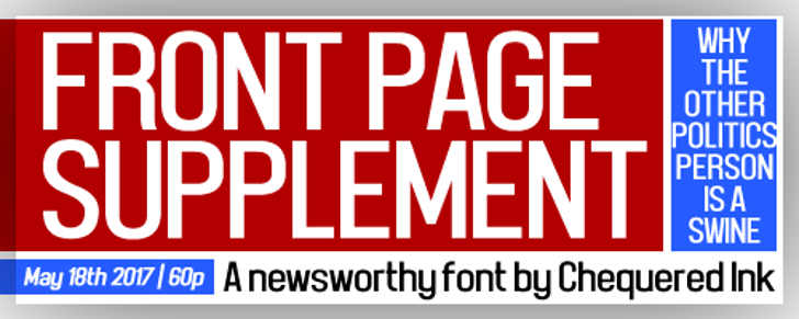 Front Page Supplement Font poster screenshot