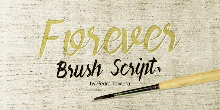 Forever Brush Script Font poster