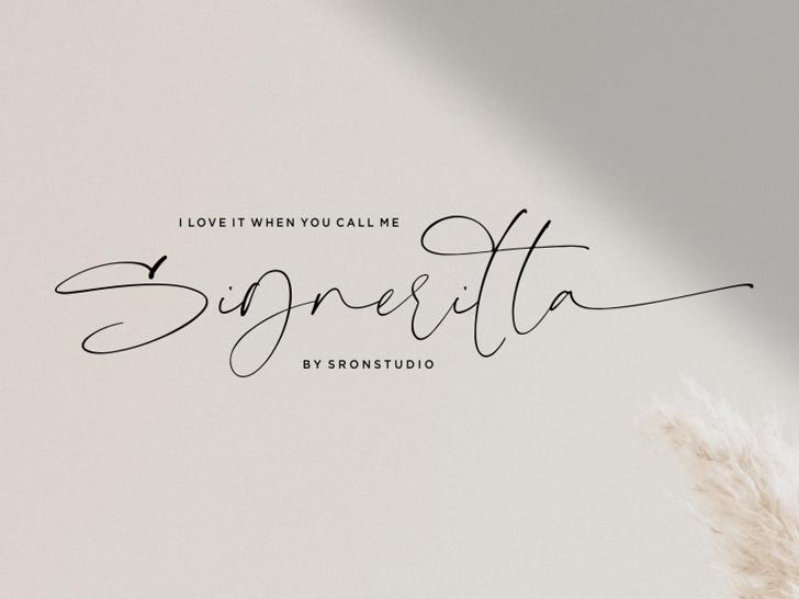 Signeritta Font poster
