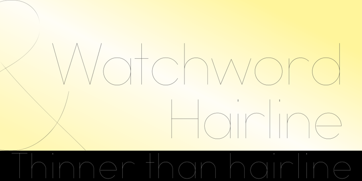 Watchword Hairline Demo Font design typography