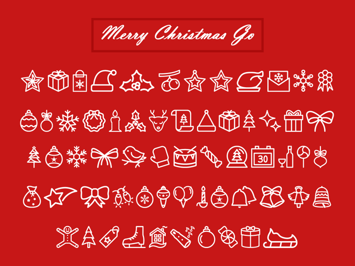 Merry Christmas Go Font by Jamel E. Robin   FontSpace
