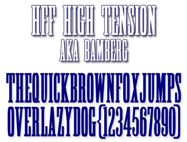 HFF High Tension Font font typography