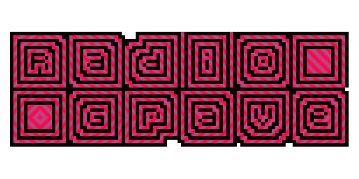 Radio Grave Font design graphic