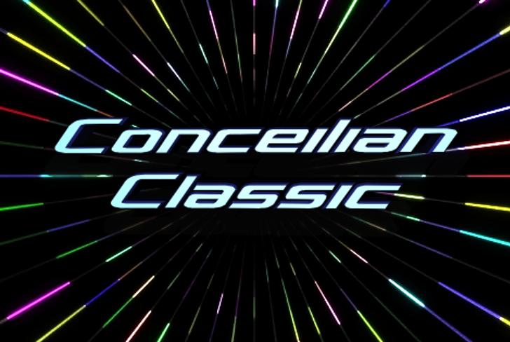 Concielian Classic Font fireworks light